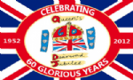 Queen's Diamond Jubilee Large Flag - 3' x 2', 60 Glorious Years.